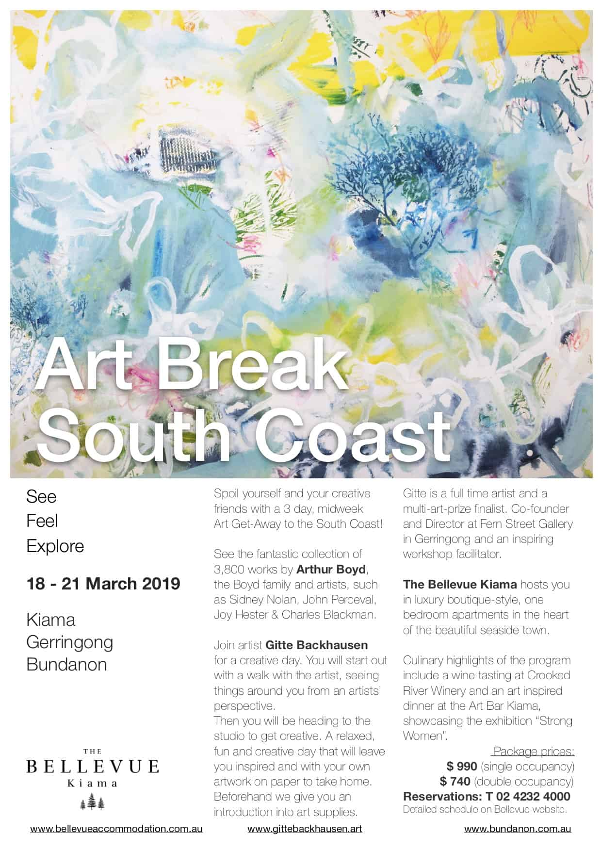 Art Break South Coast, 18 – 21 March 2019